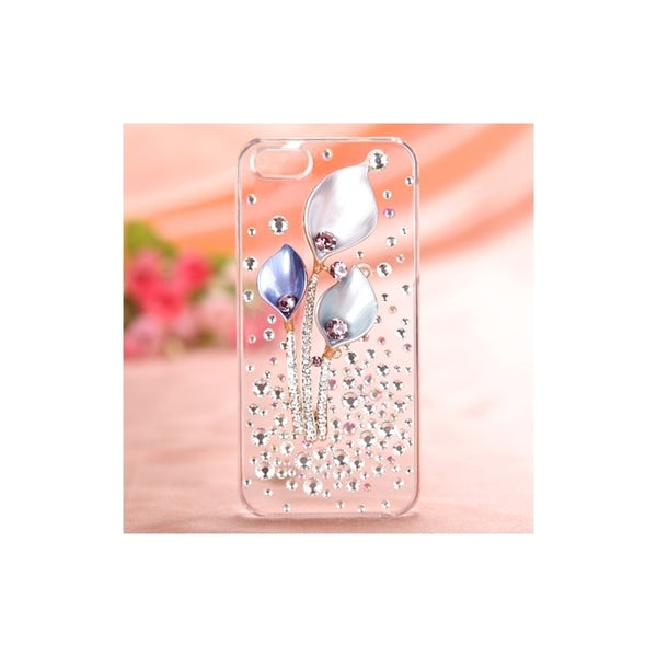 INSTEN Phone Case Cover Clear Crystal 3D Back Shell for Apple iPhone 5