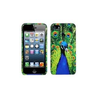 INSTEN Peacock Portrait Printed Design Hard Plastic Phone Case Cover for Apple iPhone 5