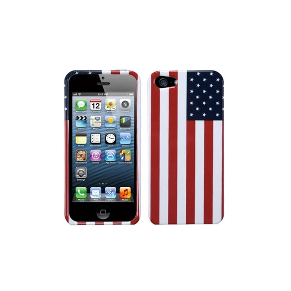 INSTEN US National Flag Printed Design Hard Plastic Phone Case Cover for Apple iPhone 5