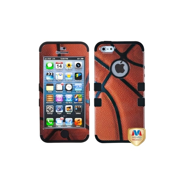 INSTEN Basketball Rubber TUFF Hybrid Phone Case Cover Skin for Apple iPhone 5