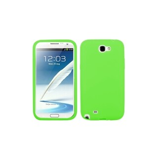 INSTEN Green Soft Silicone Soft Gel Phone Case Cover for Samsung Galaxy Note 2