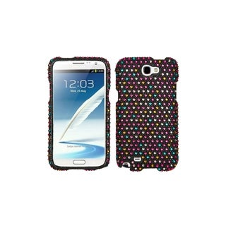 INSTEN Rainbow Colorful Diamond Dots Case Cover for Samsung Galaxy Note 2