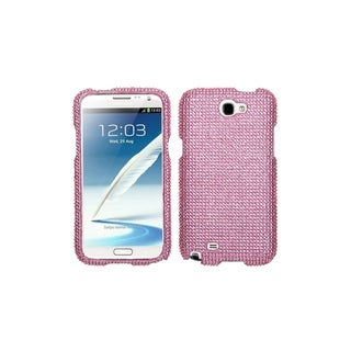 INSTEN Pink Diamond Bling Dot Lady Hard Case Cover for Samsung Galaxy Note 2