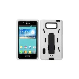INSTEN Black/ White Symbiosis Stand Phone Case Cover for LG US730 Splendor