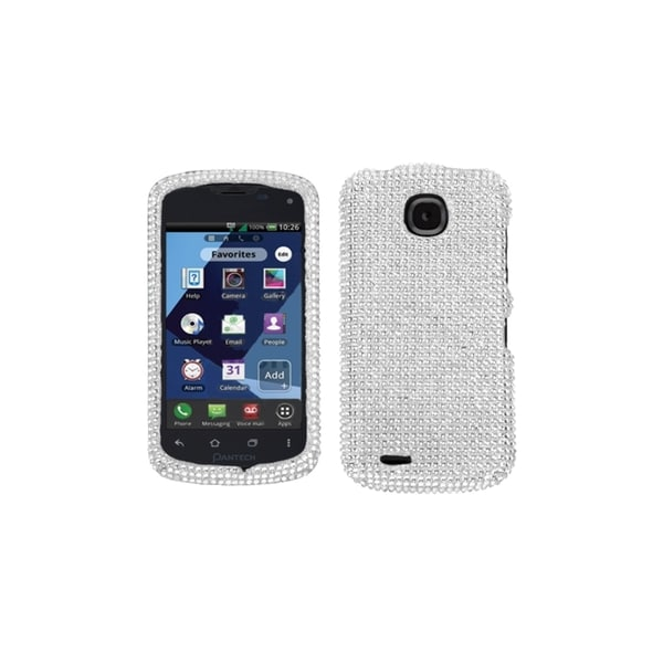 INSTEN Silver Diamante Case Cover(Diamante 2.0) for PANTECH ADR910L