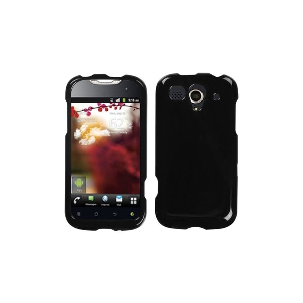 INSTEN Solid Black Phone Case Cover for Huawei U8680 myTouch