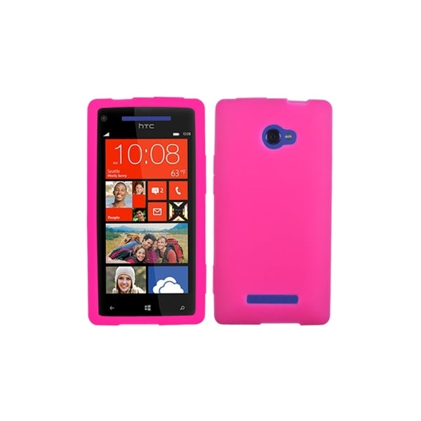 INSTEN Hot Pink Solid Skin Cover for HTC Windows Phone 8X