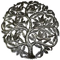 Handmade 'Tree of Life Birds Ready to Fly' 24-inch Wall Art, Handmade in Haiti