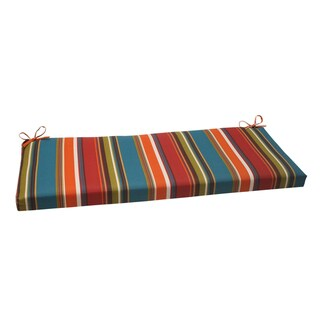 Pillow Perfect Westport Polyester Teal Outdoor Bench Cushion