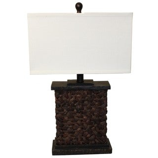 Casa Cortes Rattan 28-inch High Table Lamp