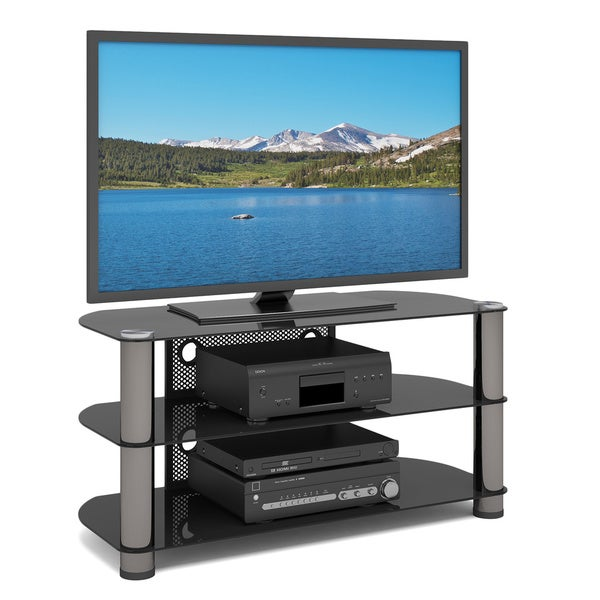 Shop Sonax New York Metal And Glass Corner Tv Stand Free Shipping
