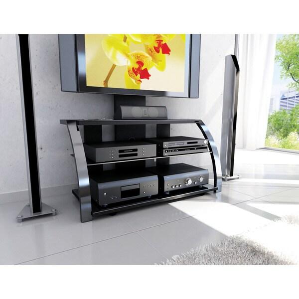 Sonax Ml 1454 Milan Hybrid Gun Metal Tv Stand