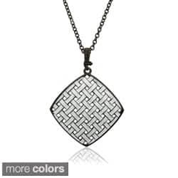 Riccova 14k Goldplated Woven Enamel Necklace|https://ak1.ostkcdn.com/images/products/7786090/Riccova-14k-Goldplated-Woven-Enamel-Necklace-P15180350.jpg?impolicy=medium