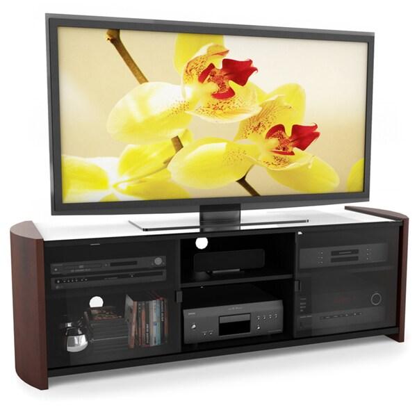 Sonax ML-3609 Milan 60-inch TV Bench with Real Wood Veneer