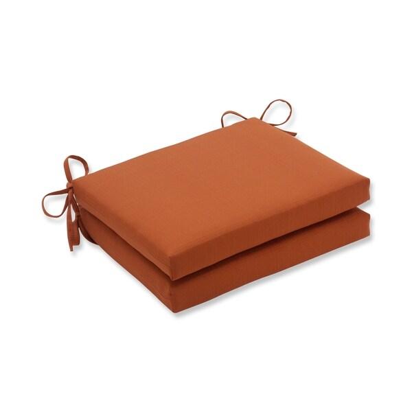Surprising Pillow Perfect Cinnabar Polyester Burnt Orange Square Outdoor Seat Cushions Set Of 2 Beutiful Home Inspiration Xortanetmahrainfo