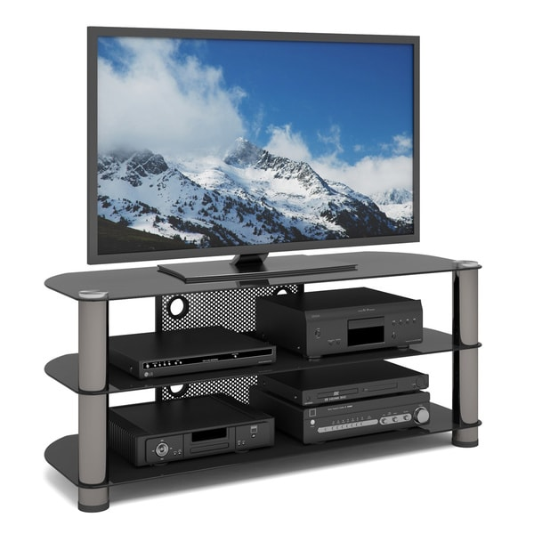 Shop Sonax Ny 9504 New York 50 Inch Metal And Glass Tv Stand Free