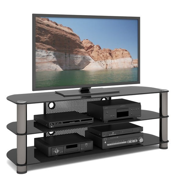 Shop Sonax Ny 9584 New York 58 Inch Metal And Glass Tv Stand Free