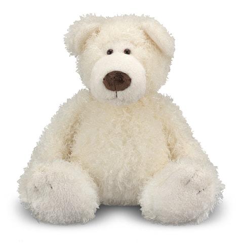 Melissa & Doug Big Vanilla Roscoe Bear - White
