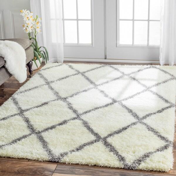 nuLOOM Soft and Plush Moroccan Trellis Shag Rug (8' x 10')