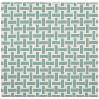Safavieh Hand-woven Moroccan Reversible Dhurrie Turquoise Wool Area Rug (6' Square)