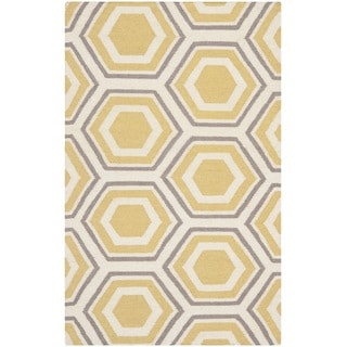 Safavieh Hand-woven Moroccan Reversible Dhurrie Ivory Wool Rug (3' x 5')