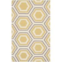 Safavieh Hand-woven Moroccan Reversible Dhurrie Ivory Wool Rug - 3' x 5'