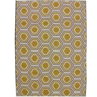 Safavieh Handwoven Moroccan Reversible Dhurrie Ivory Wool Geometric Rug (5' x 8')