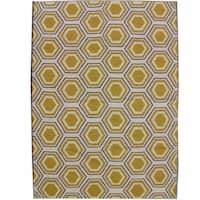 Safavieh Handwoven Moroccan Reversible Dhurrie Ivory Wool Geometric Rug - 5' x 8'