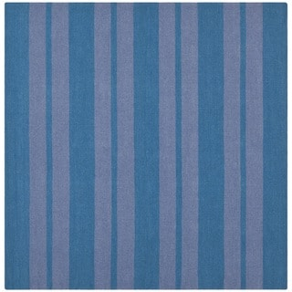 Safavieh Hand-woven Moroccan Reversible Dhurrie Turquoise Wool Rug (6' Square)