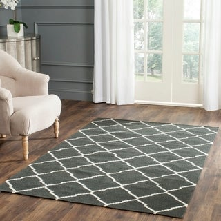 Safavieh Handwoven Moroccan Reversible Dhurrie Chocolate Brown Wool Area Rug (5' x 8')