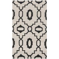 Safavieh Handwoven Geometric Moroccan Reversible Dhurrie Ivory Wool Rug - 3' x 5'
