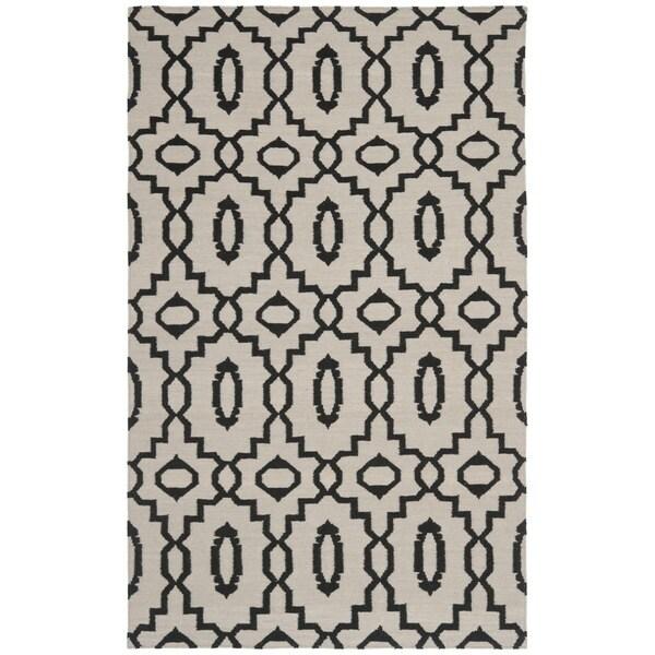 Safavieh Handwoven Moroccan Reversible Dhurrie Ivory Wool Area Rug (5' x 8')