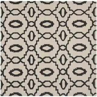 Safavieh Handwoven Moroccan Reversible Dhurrie Ivory Indoor Wool Rug (6' Square)
