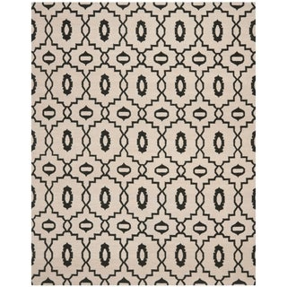 Safavieh Hand-woven Moroccan Reversible Dhurrie Ivory Wool Rug (8' x 10')