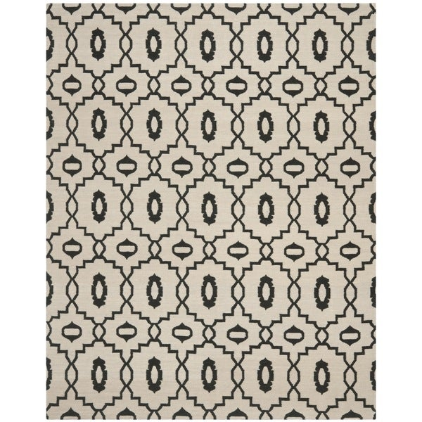 Safavieh Hand-woven Moroccan Reversible Dhurrie Ivory Wool Rug - 8' x 10'
