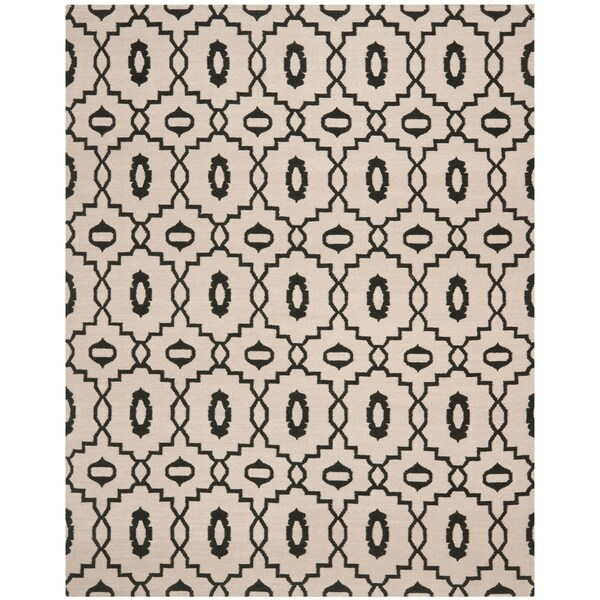 Safavieh Hand-woven Moroccan Reversible Dhurrie Ivory Wool Rug - 8' x 10'