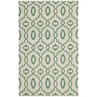 Safavieh Hand-woven Moroccan Reversible Dhurrie Ivory Wool Rug (4' x 6')