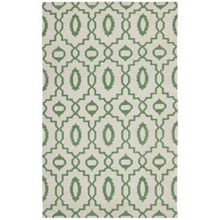 Safavieh Hand-woven Moroccan Reversible Dhurrie Ivory Wool Rug (5' x 8')
