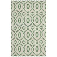 Safavieh Hand-woven Moroccan Reversible Dhurrie Ivory Wool Rug - 5' x 8'