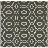 Safavieh Hand-woven Moroccan Reversible Dhurrie Chocolate Brown Wool Rug - 6' Square