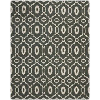 Safavieh Transitional Handwoven Moroccan Reversible Dhurrie Chocolate-Brown Wool Rug (8' x 10')