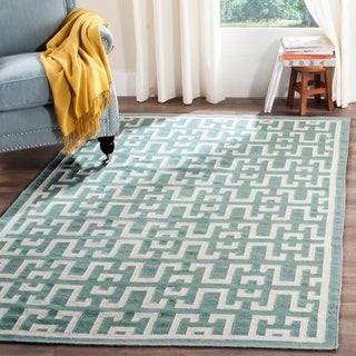 Safavieh Hand-woven Moroccan Reversible Dhurrie Seaform Blue Wool Rug (5' x 8')