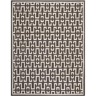 Safavieh Hand-woven Moroccan Reversible Dhurrie Chocolate Brown Wool Rug (8' x 10')