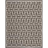 Safavieh Hand-woven Moroccan Reversible Dhurrie Chocolate Brown Wool Rug - 8' x 10'