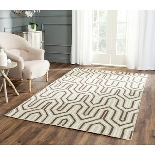 Safavieh Handwoven Moroccan Reversible Dhurrie Transitional Grey Wool Rug (4' x 6')
