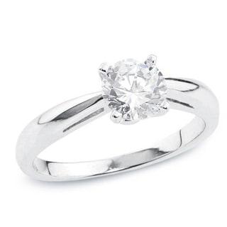 Auriya 14k Gold 1/2ct TDW Certified Round Diamond Solitaire Ring