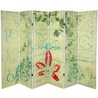 Garden Gate 5.25-Foot Tall Canvas Room Divider (China)