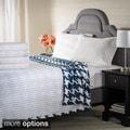 Reversible Stripe/Modern Houndstooth 9-ounce German Flannel Blanket