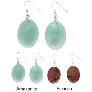 Pearlz Ocean Oval Bead Earrings