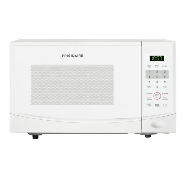 Frigidaire 0.9-cubic-foot White Countertop Microwave Oven - Free ...
